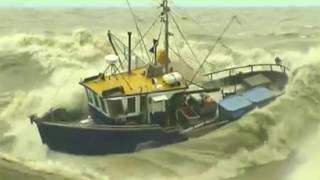 ship sinking | fishing boats in storm