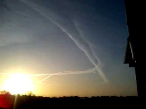 Chemtrail over Limerick Ireland 18/01/12