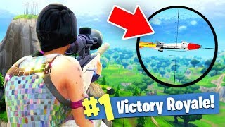 I SNIPED A GUIDED MISSILE in Fortnite Battle Royale