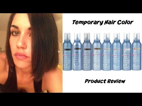 DARK HAIR FOR ONE DAY | WASH OUT COLOR MOUSSE | HAIR FUN!!