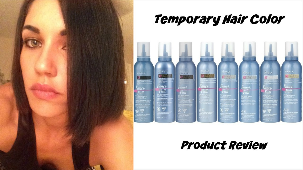Dark Hair For One Day Wash Out Color Mousse Hair Fun Youtube