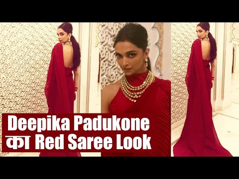 Isha Ambani Wedding: Deepika Padukone wins hearts in her red saree look | Boldsky