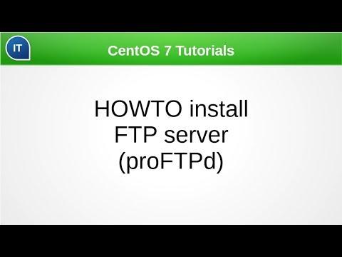Установка и настройка FTP сервера (proFTPd). CentOS 7 Tutorials