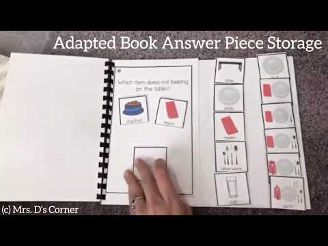 Adapted Book Answer Piece Storage | Mrs. D's Corner