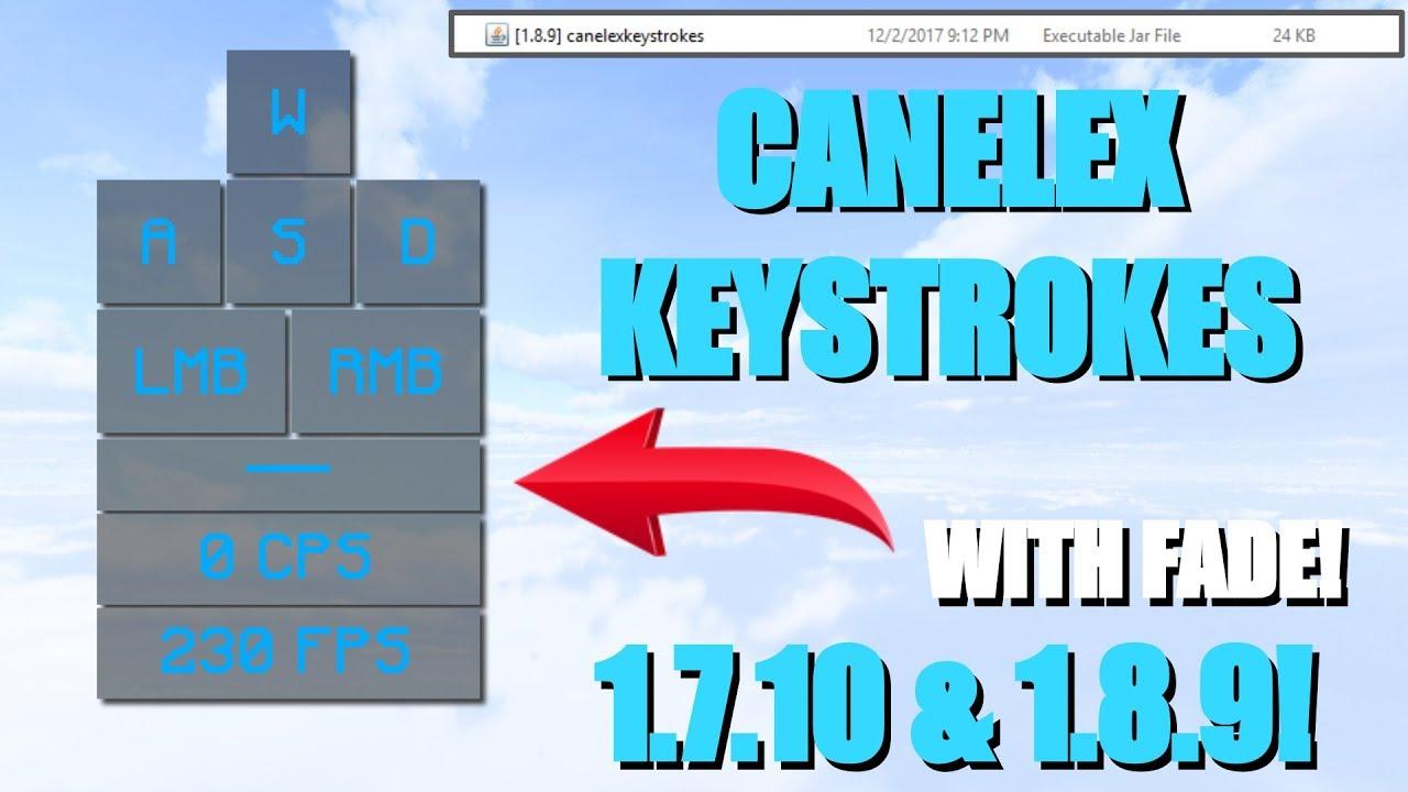 Keystrokes для майнкрафт 1.8