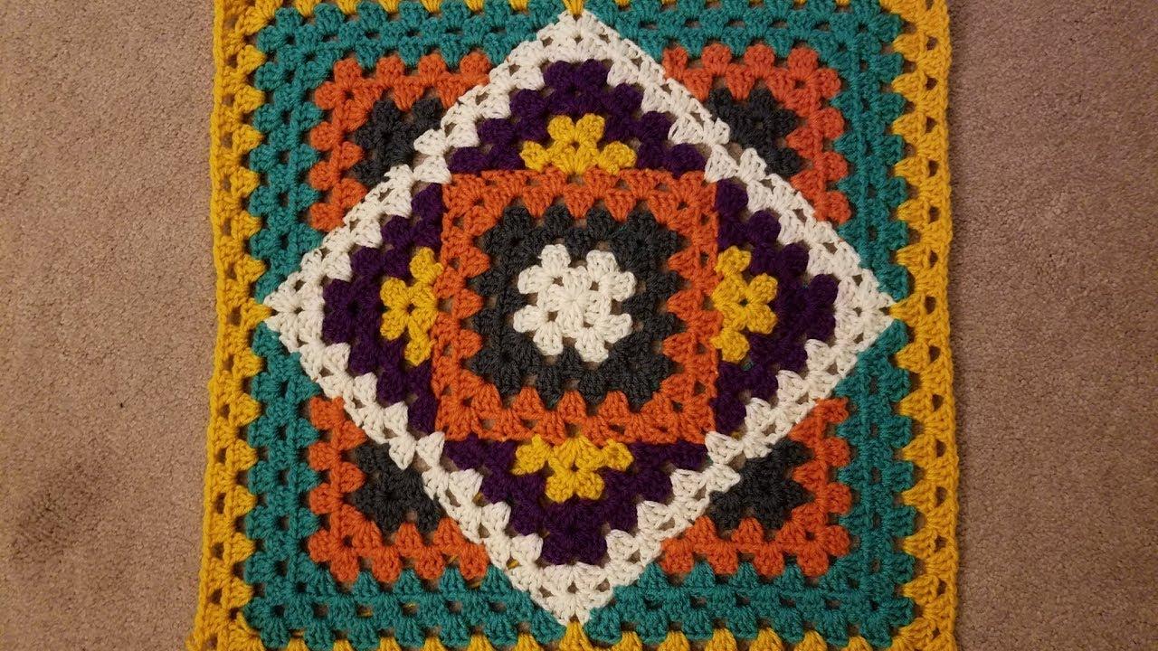 Kaleidoscope Granny Blanket Crochet Along (pt 2.2) - YouTube