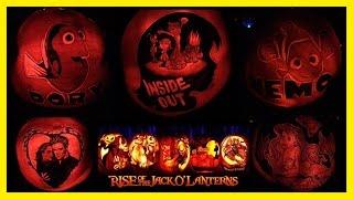 RISE of the Jack O' Lanterns Halloween Event 5000 Pumpkin Display Disney | Liam and Taylor's Corner