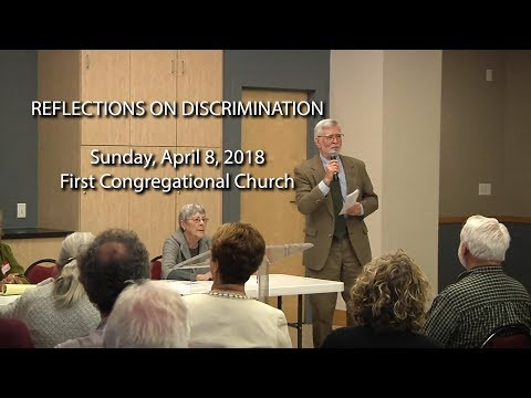 Panel Discussion: Reflections on Discrimination, April 8, 2018