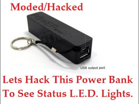 Hack Cheap Power Bank To Show Status Led Lights Youtube
