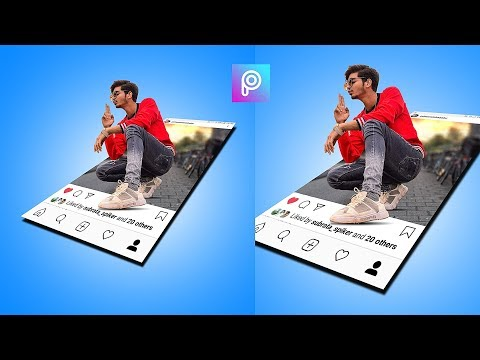 3d pop out effects / picsart tutorial/ mobile photo editing thumbnail
