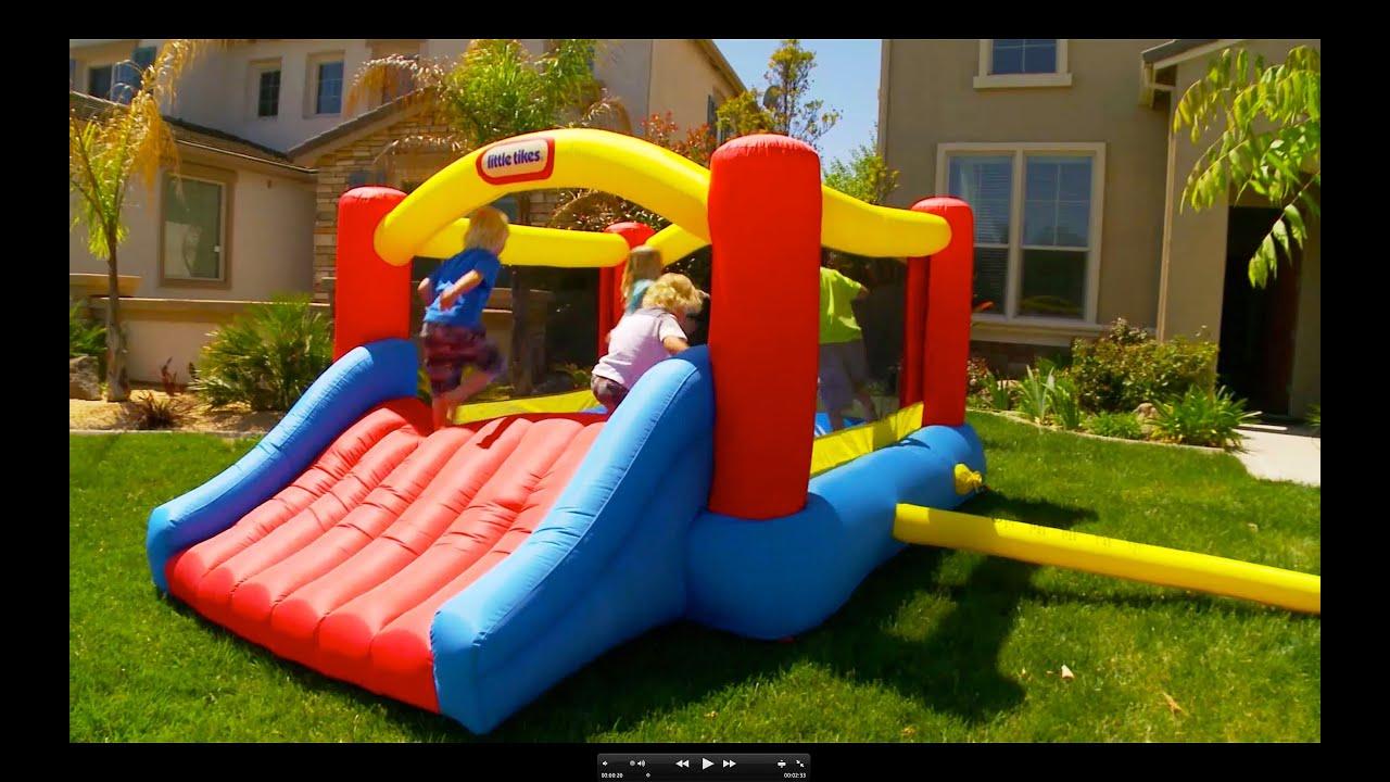 Little Tikes Jump N Slide Bouncer Youtube