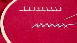 Learn Hand Embroidery with Me: Blanket Stitch and Herringbone Stitch
