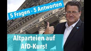 Altparteien auf AfD-Kurs: 5 Fragen zu Polizei, Windkraft, Inklusion und GEZ