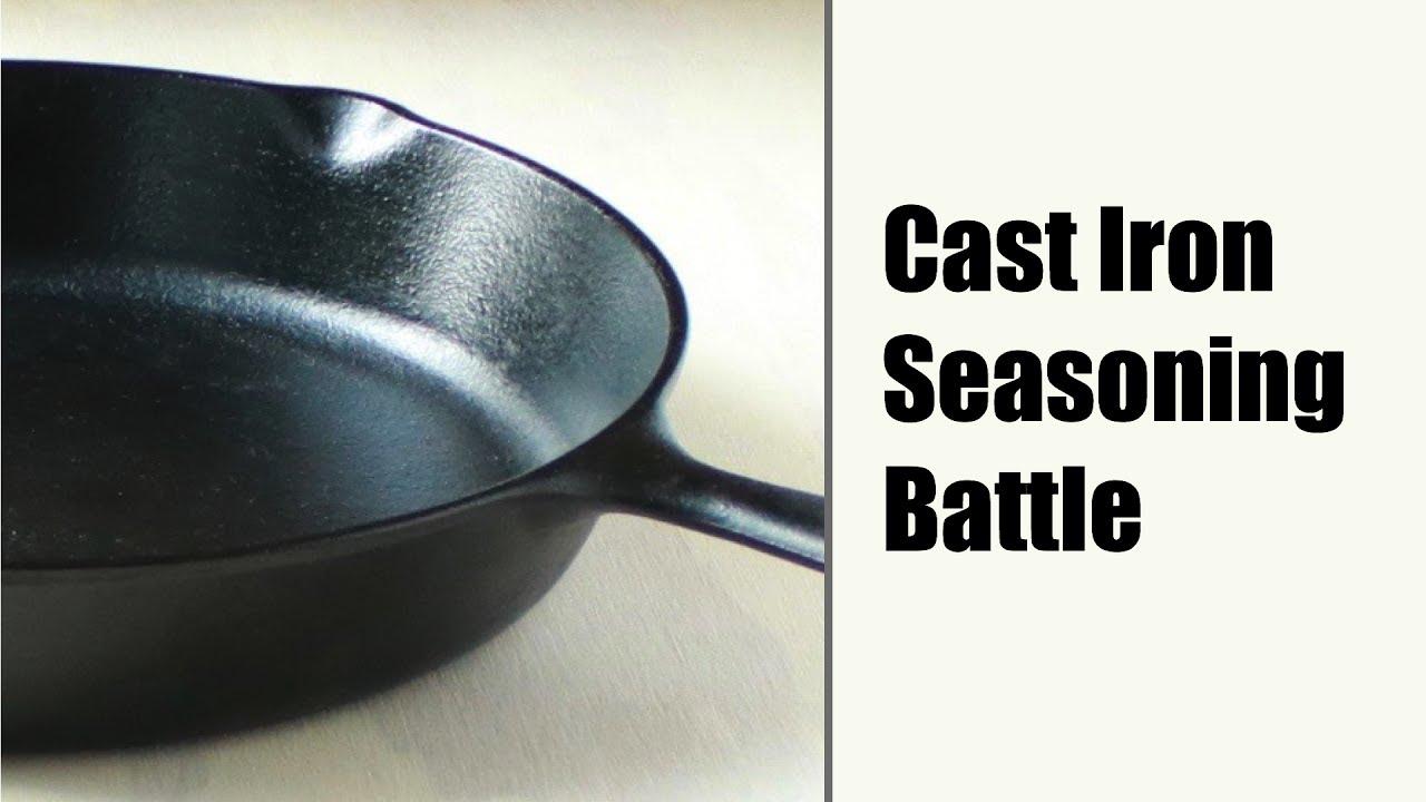 seasoning cast iron flaxseed