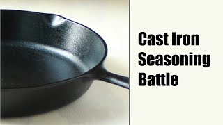 Download Seasoning Cast Iron (Flaxseed vs. Old School methods) Mp3 and Videos