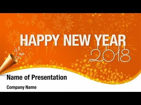 2018 Happy New Year PowerPoint Template Backgrounds