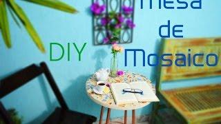 Mesa De Mosaico – Com Caquinhos de Azulejo