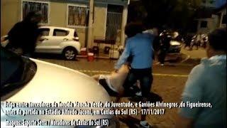 Briga entre Mancha Verde do Juventude e Gaviões Alvinegros do Figueirense - 17/11/2017