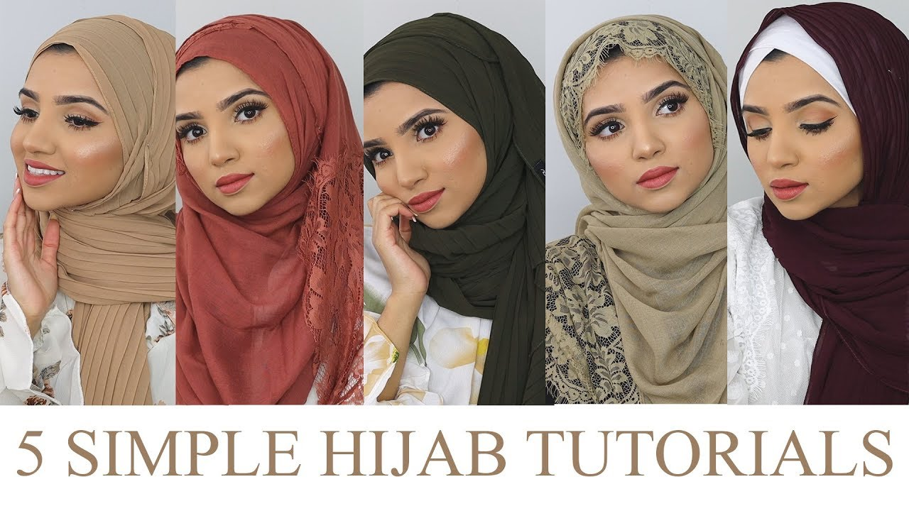 5 SIMPLE HIJAB STYLES ft. Niswa Fashion   SAIMASCORNER