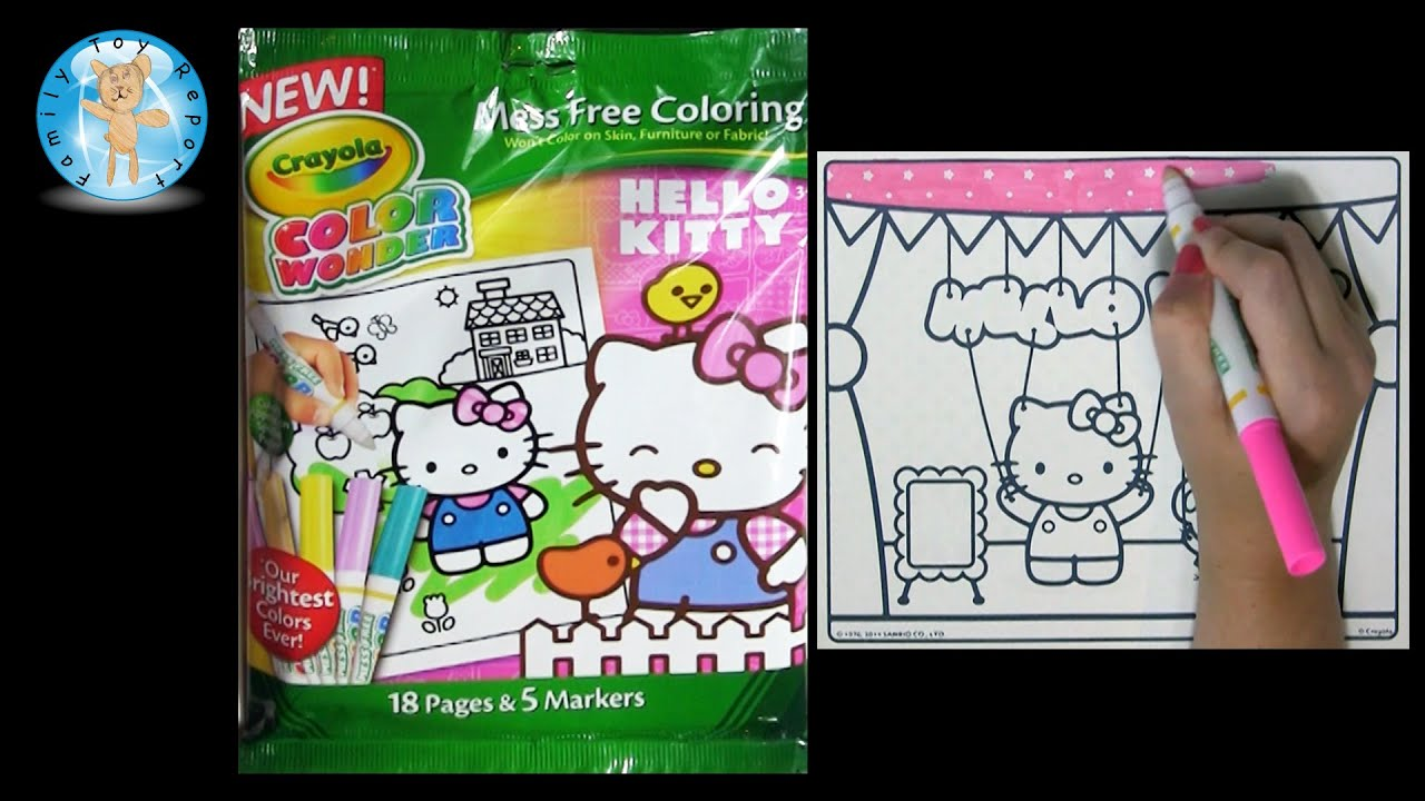 Crayola Color Wonder HELLO KITTY Coloring Book Puppet Marionette ...