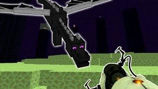 MATANDO O ENDER DRAGON COM UMA PORTAL GUN!! (MINECRAFT DRAGON VS PORTAL GUN)