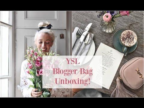 Saint Laurent Unboxing Ysl Blogger Bag What Fits Inside
