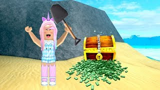 ROBLOX I'm RICH! Finding Buried TREASURE At The Beach | Kunicorn Plays Roblox