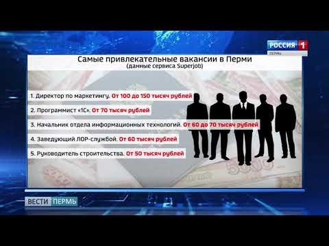 В Перми назвали самые привлекательные вакансии