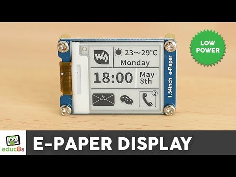"Arduino E-Paper Display Review ( Waveshare 1.54"")"