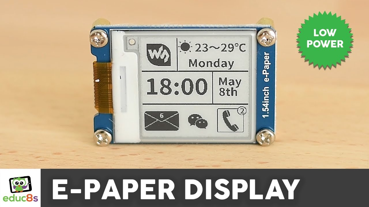 Arduino E-Paper Display Review ( Waveshare 1 54