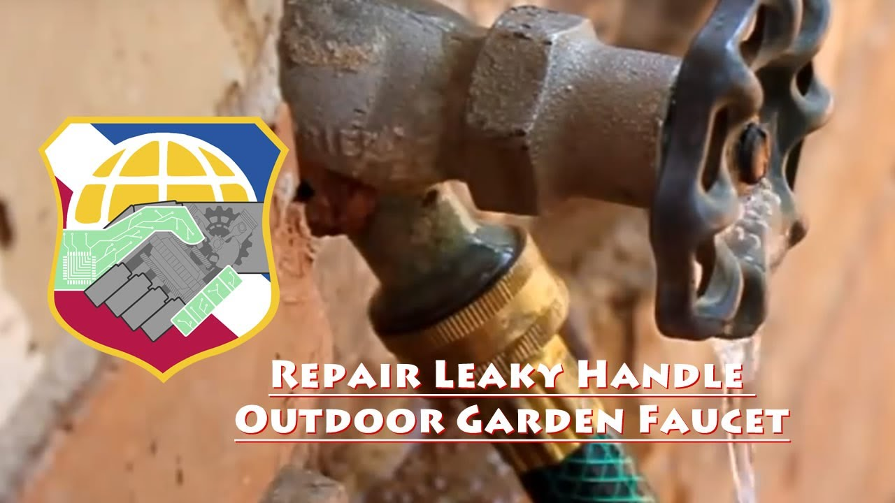 Repair Leaky Handle Outdoor Garden Faucet (self forming graphite ...