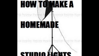 How To Make A Home Made Studio Light In 2 Minutes