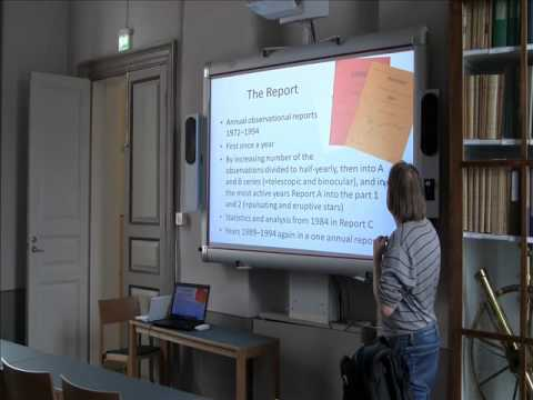 EuroVS 2013: Short history of variable star observing in Finland