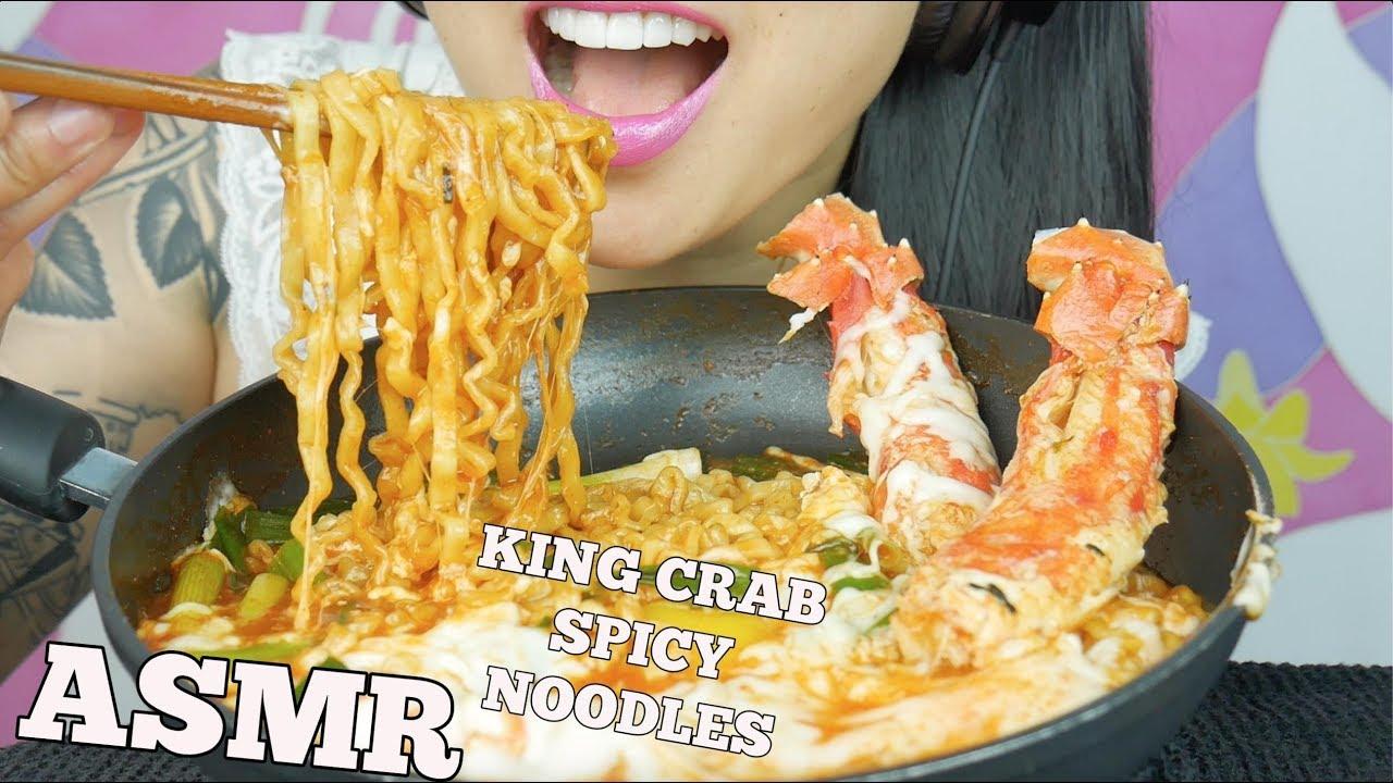 Asmr King Crab Cheesy Fire Noodles Eating Sounds No Talking Sas Asmr Youtube Asmr spicy cheesy noodles cheesy rice cakes king crab enoki mushrooms (satisfying eating. asmr king crab cheesy fire noodles eating sounds no talking sas asmr