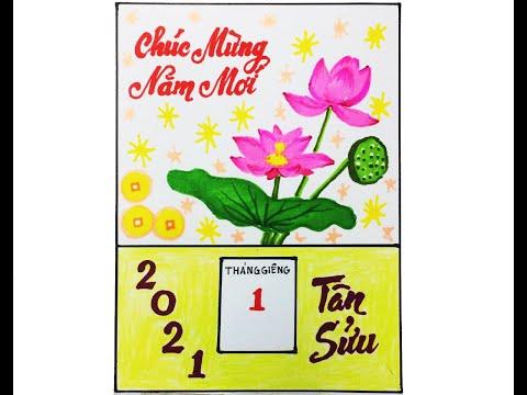Vẽ tranh đề tài: Vẽ trang trí bìa lịch treo tường./ Nhện Tuyên.