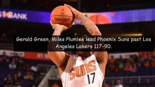 Gerald Green Plumlee Lead Phoenix Suns Past Undermanned Los Angeles Lakers Vs New York Knicks 2014