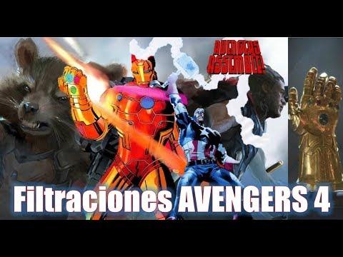 Filtraciones AVENGERS 4 Nueva Black Order + CAP Muere + Stark Gauntlet + Thor y Rocket en Asgard