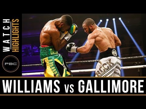 Williams vs Gallimore Highlights: April 7, 2018 - PBC on Showtime