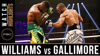 Williams vs Gallimore Highlights: April 7, 2018 - PBC on Showtime