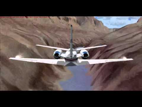 FSX Corporate Jets Fly Through the Grand Canyon