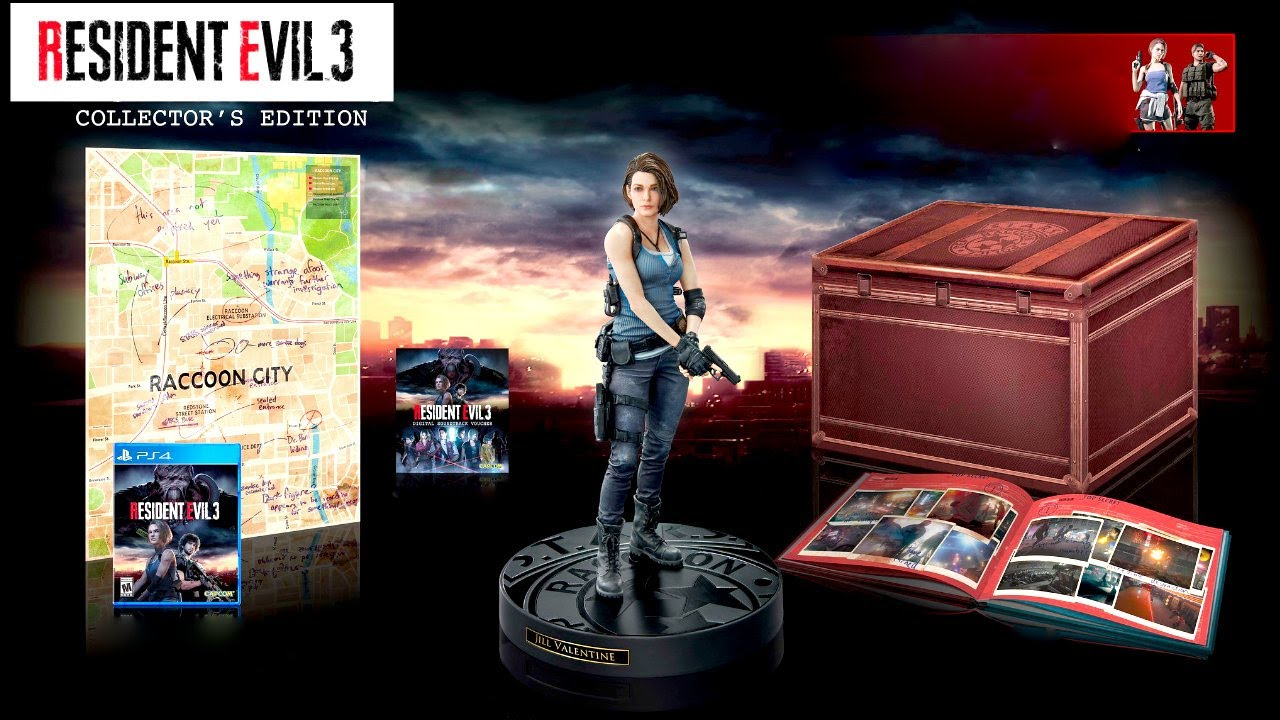Resident Evil 3 Remake Collector's Edition and all Pre-Order ...