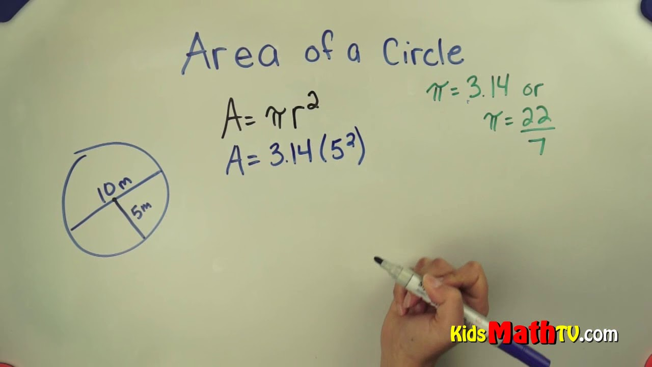 hight resolution of Find the area of a circle 7th grade math lesson for students - YouTube