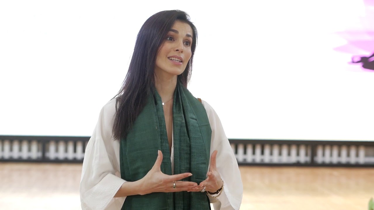 Comment on meaning of yoga by Sati Kazanova at the celebration of IDY2020 at the Embassy of India