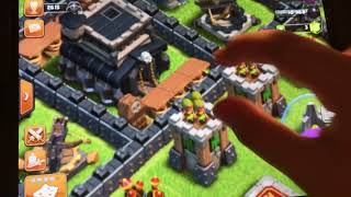 Playing clash of clans and reacting to my videos