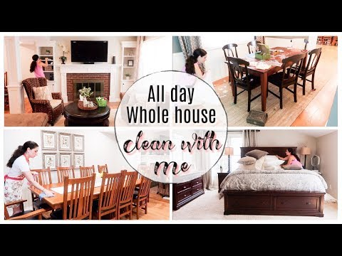 NEW! ALL DAY CLEAN WITH ME | WHOLE HOUSE CLEAN WITH ME | SUMMER CLEAN WITH ME 2019