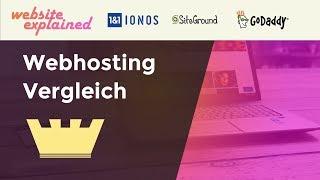 Webhosting Vergleich - Die Besten WordPress Anbieter 2019 - SiteGround, GoDaddy, 1&1 Ionos