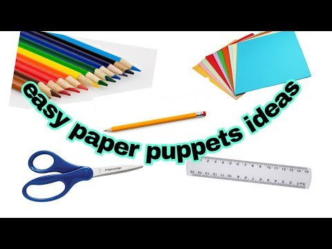 Super simple paper puppet/easy paper puppets ideas/5-minute Crafts