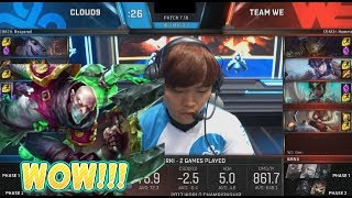 Singed Locked In By Impact - WE VS C9 Game 2 Highlights - 2017 World Championship QFs