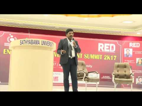 Healthcare Entrepreneur & Innovation talk in Satyabama University Chennai TamilNadu- DrSaravanan IND