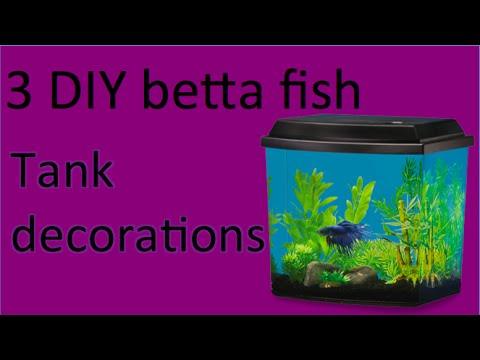 3 diy betta fish tank decor youtube for Betta fish decor